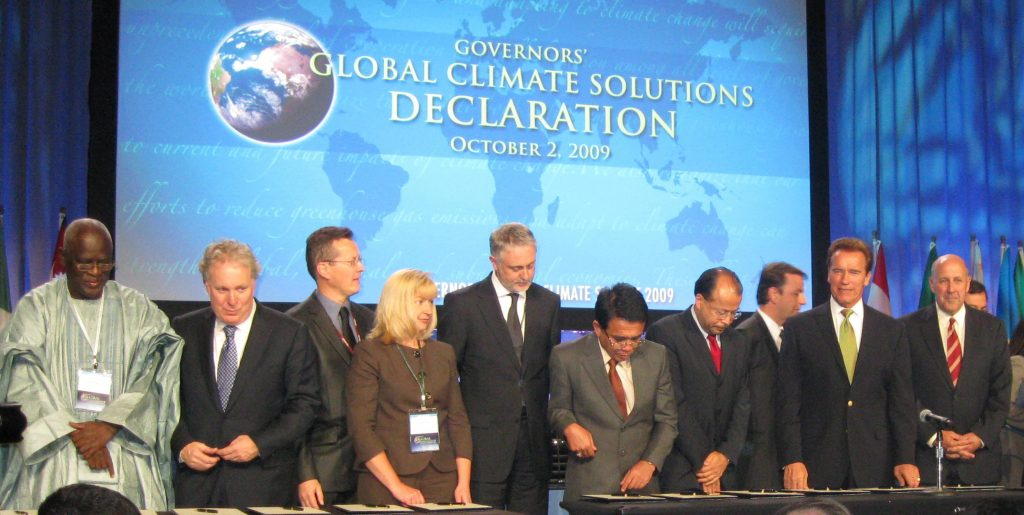 joint Declaration by 41 countries, states and provinces at the Governor's Global Climate Solutions Conference, October 2009